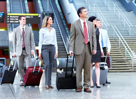 Group of business people at the airport  Stock Photo