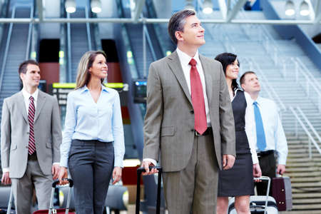 Group of business people at the airport  Stock Photo - 13620442