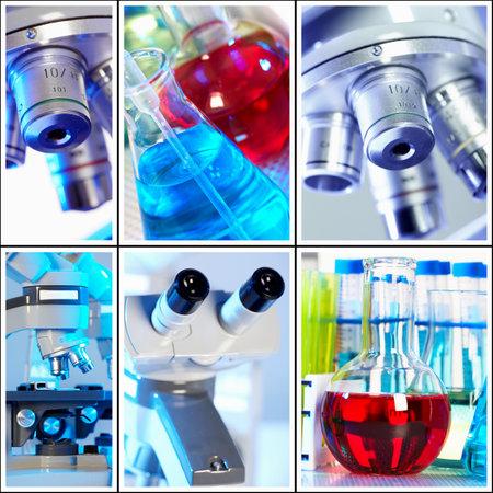 Scientific background collage  Stockfoto