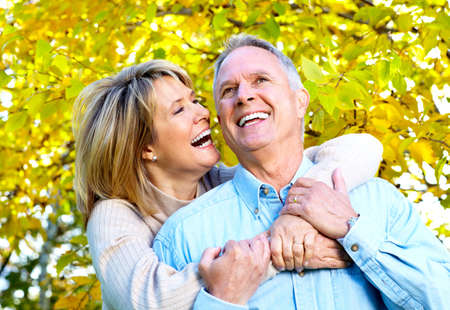 healthy seniors: Happy senior couple