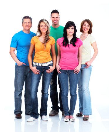 grupo de personas: Grupo de gente feliz