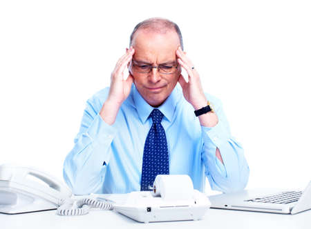 employment issues: Accountant businessman  Stock Photo