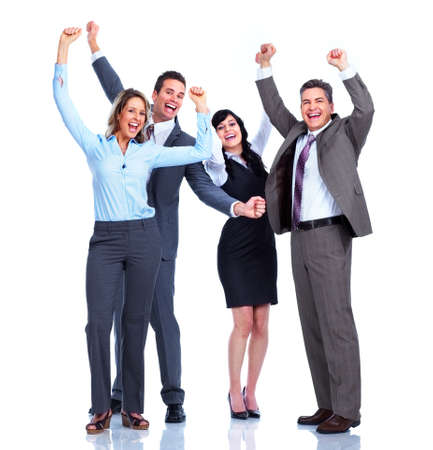 company employee: Group of business people  Success  Stock Photo