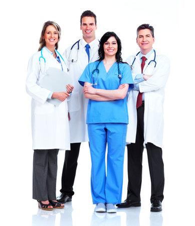 grupo de médicos: Grupo de médicos Foto de archivo
