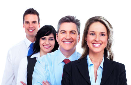 white work: Group of business people  Stock Photo