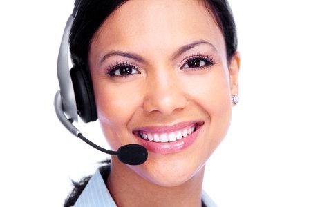 hot secretary: Call center operator business woman