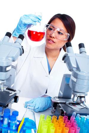 Scientific woman working in laboratory  photo