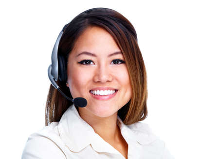 Call centre operator  Chinese businesswoman  Stock Photo - 13929639