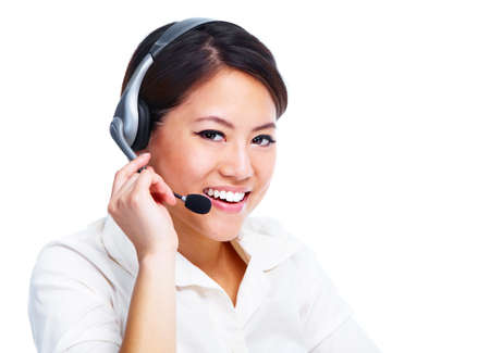 Call centre operator  Chinese businesswoman  Stock Photo - 13929557