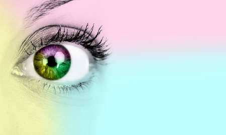 myopia: Woman eye  Stock Photo