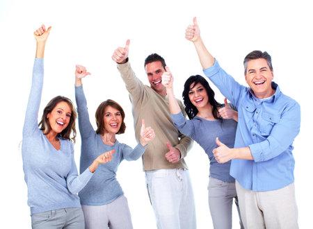 Groep van gelukkige mensen