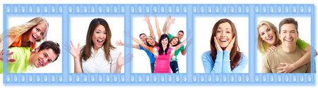 dental smile: Group of happy people