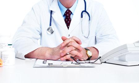 Medical doctor. Isolated on white background. photo