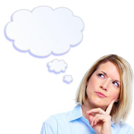 woman thinking: Thinking woman