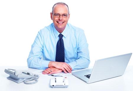 Executive businessman. Isolated on white background. photo