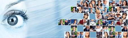 Business people team collage Reklamní fotografie - 14070893