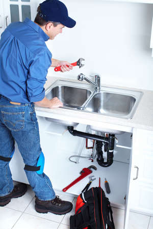Professional plumber  Stock Photo - 14107407