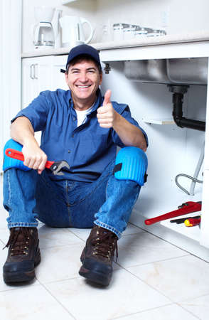 Professional plumber  Stock Photo - 14107400