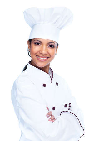 cooking chef: Chef woman  Stock Photo