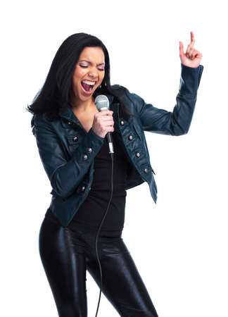 Singer meisje Stockfoto
