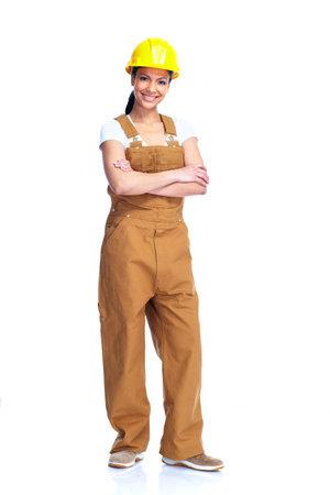 woman engineer: Worker woman  Stock Photo