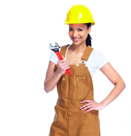 manufactory: Worker woman  Stock Photo