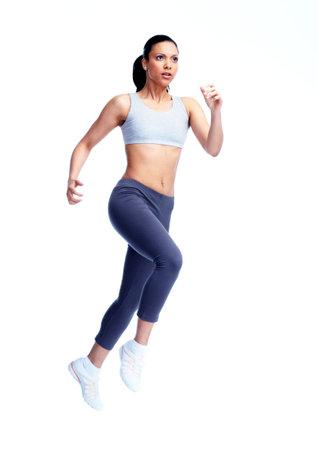 personas trotando: Jogging mujer