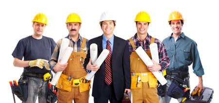 are industrial: Group of industrial workers  Stock Photo