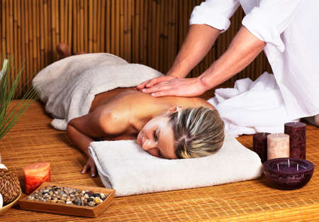 Young woman in Spa massage salon  Stock Photo - 14550203