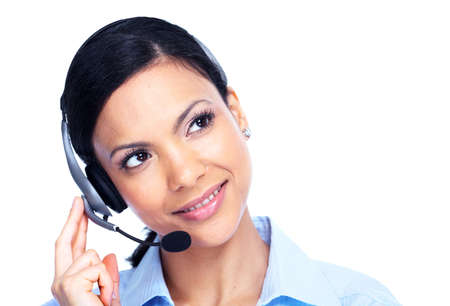 Call center operator business woman Stock Photo - 14550145