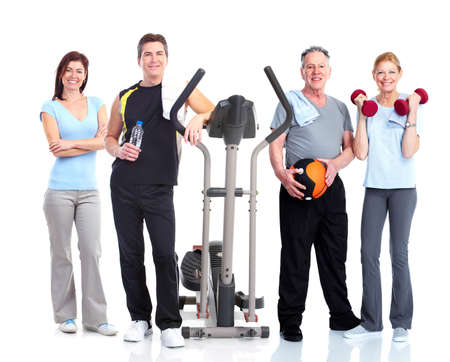 fitness equipment: Healthy people group