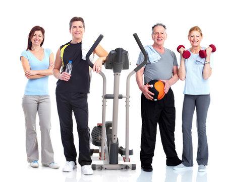 fitness hombres: Las personas del grupo saludable