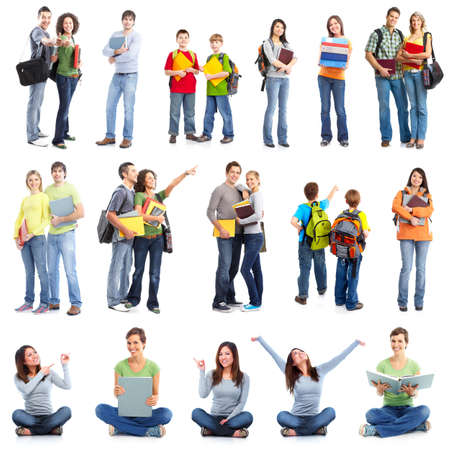 teenagers group: Group of students  Stock Photo