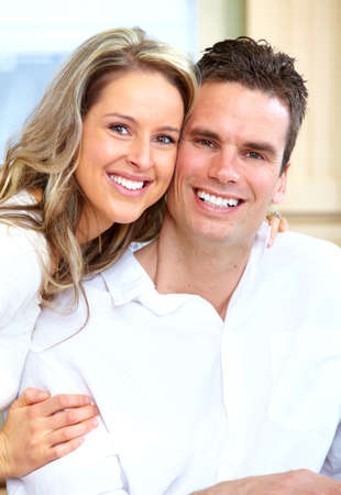 Happy couple at home Stock Photo - 14650219