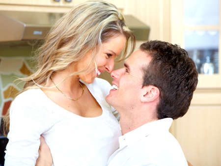 Happy couple at home Stock Photo - 14650224