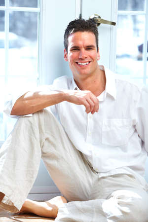 Young man at home Stock Photo - 14650223
