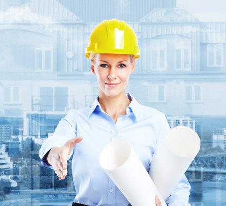Woman Architect Фото со стока - 14650207