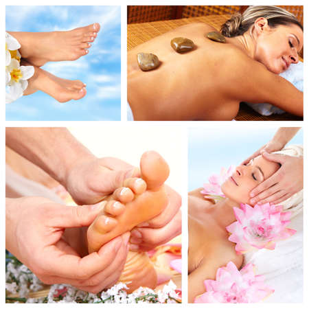 Belle collage de massage Spa photo