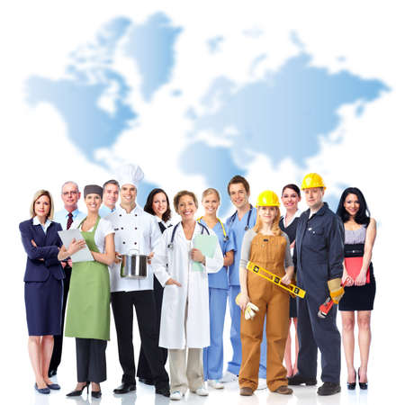 health industry: Group of industrial workers  Stock Photo