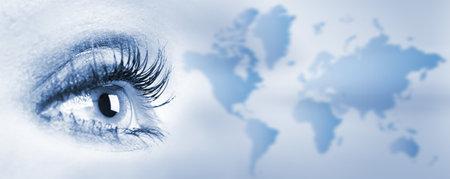 looking  eyes: Human eye  Stock Photo