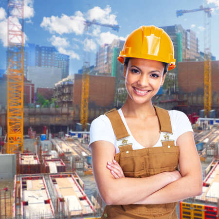 Construction worker girl  photo