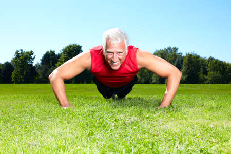 older men: Fitness couple  Stock Photo