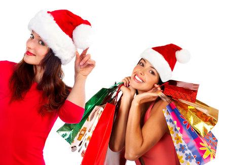 beauty shop: Christmas shopping woman