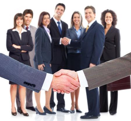 welcome people: Business handshake  Stock Photo