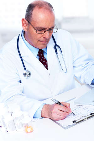 doctor writing: Medical doctor  Stock Photo
