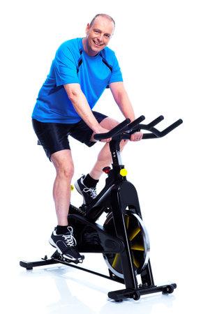 senior exercising: Fitness man