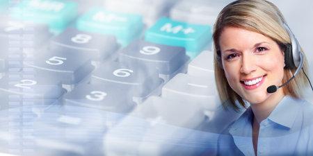Call center operator vrouw