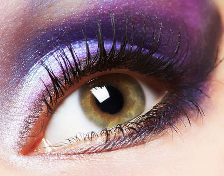 Fashion woman eye makeup  photo