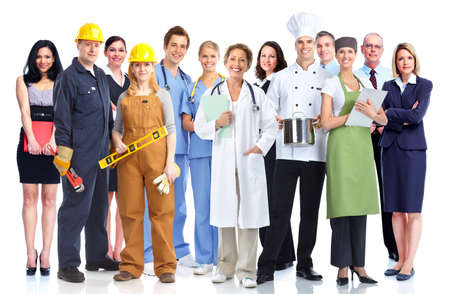 industrial: Group of industrial workers  Stock Photo