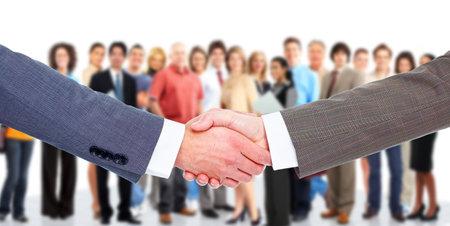 Zakelijke bijeenkomst Handdruk